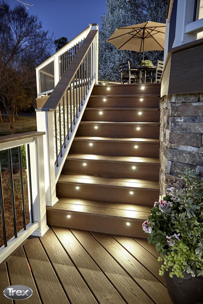 14 Ways To Improve Your Deck Deck Stair Lights Deck Lighting