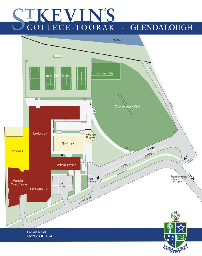 St Kevin S College Glendalough Campus Map Campus Maps