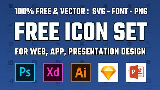 Free Download Vector Icons For Commercial Use No attribution