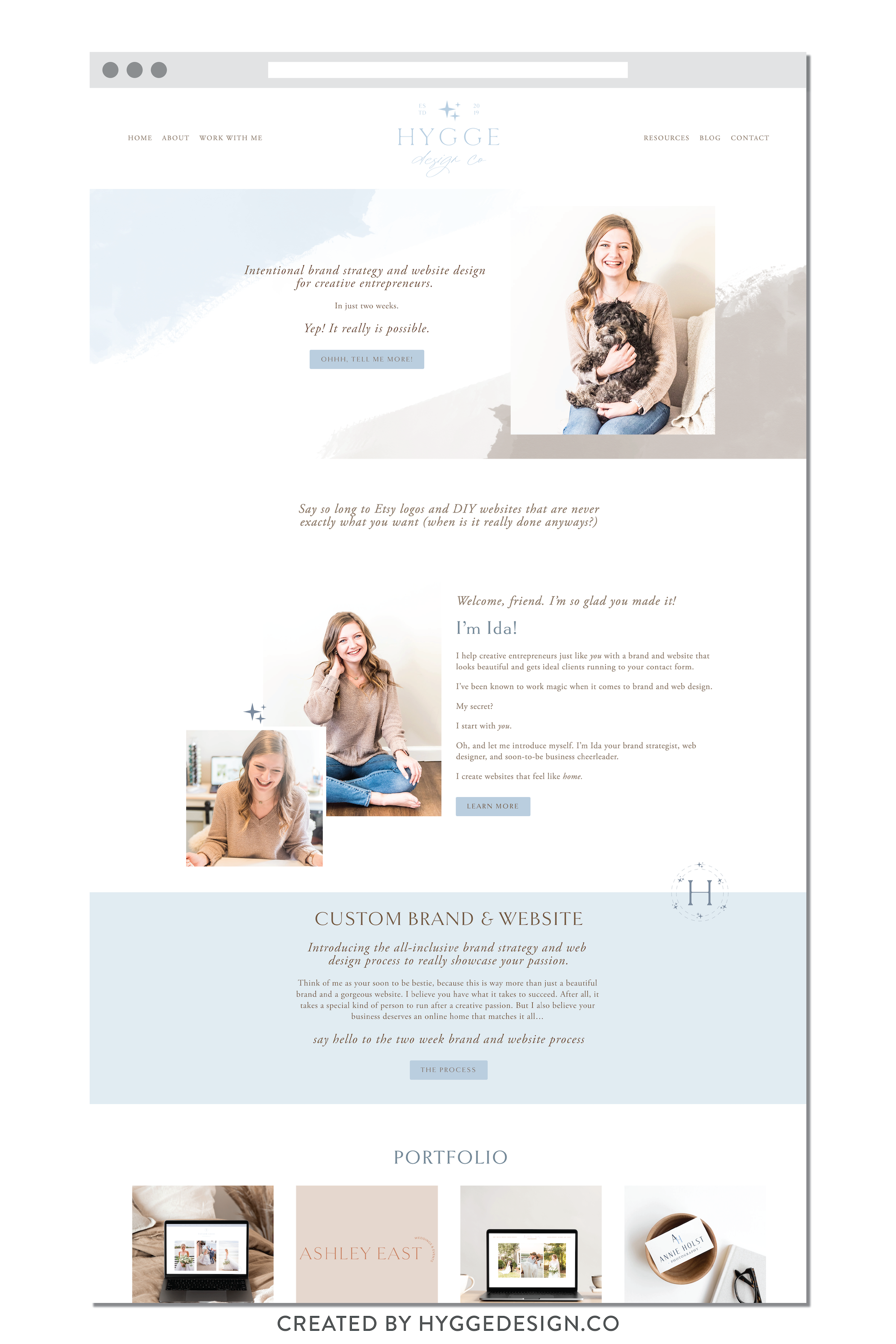 Hygge Design Co Brand And Website Launch Hyggedesign Co In 2020 Website Design Inspiration Layout Squarespace Web Design Website Design Layout