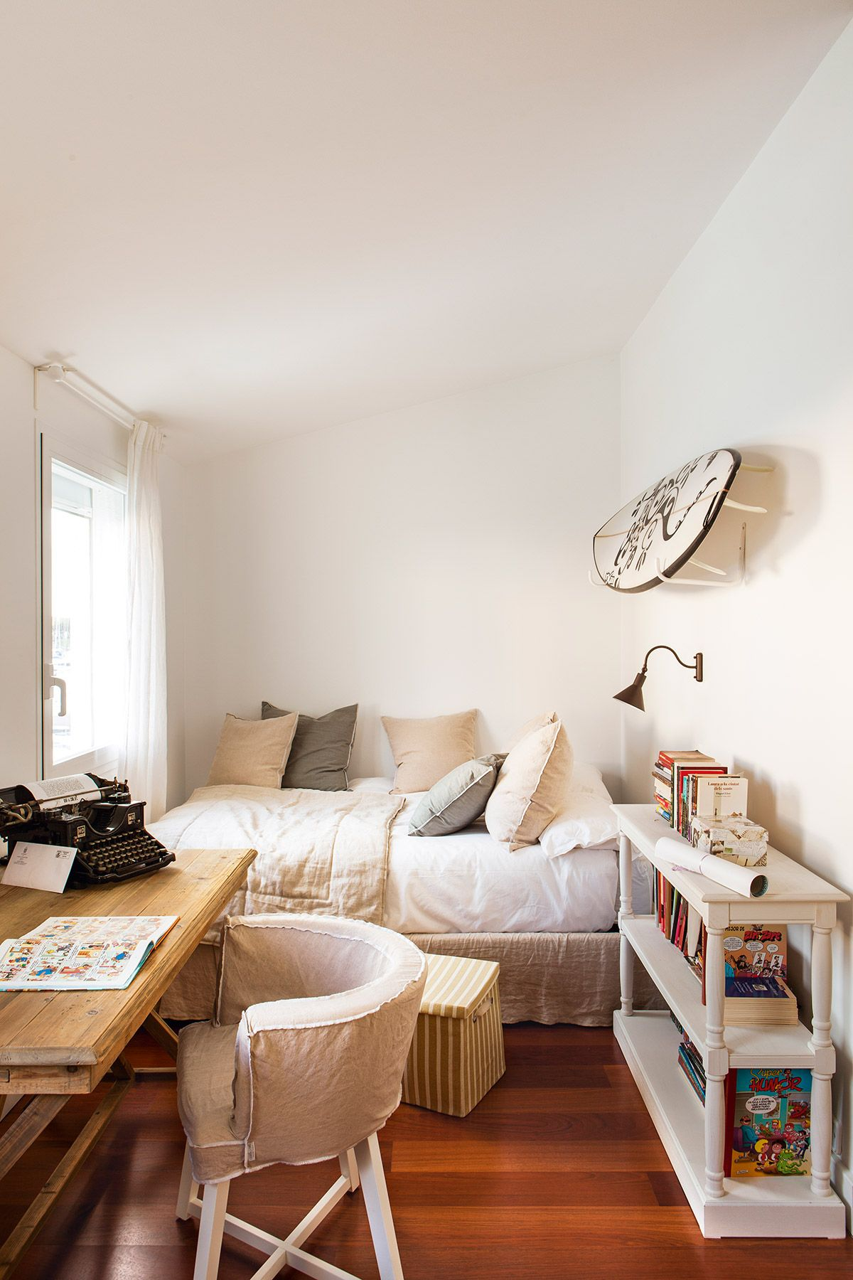 Habitacion Juvenil Muebles Blanco Y Madera Dormitorios Decoracion De Unas