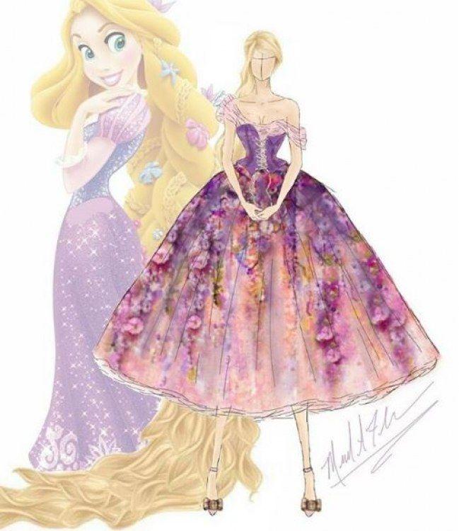 Princesse disney ce designer remet les robes au go t du - Dessin de robe de princesse ...
