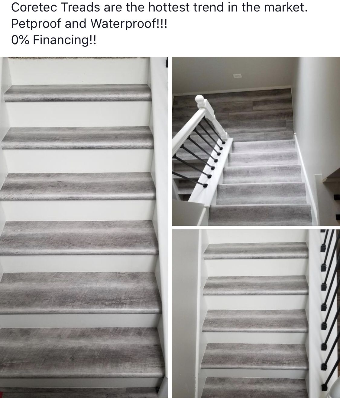 Coretec Stair Treads By Landmark Flooring Stairs Vinyl Flooring Store Stair Treads