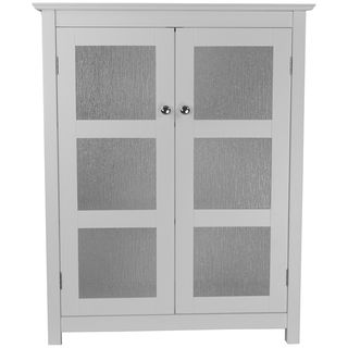 $100   Highland White Double Glass Door Floor Cabinet Part 67
