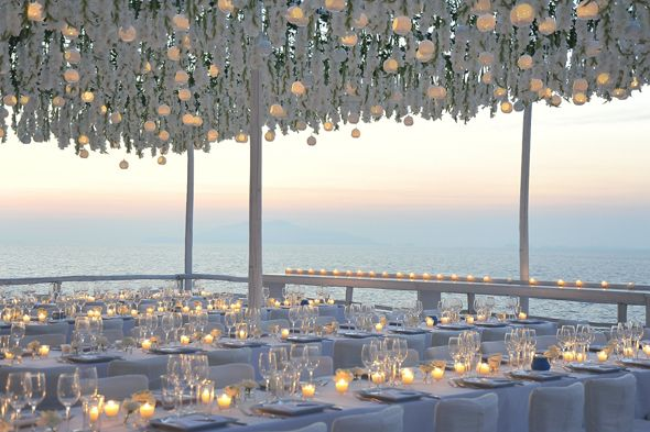 Candle lit wedding venues