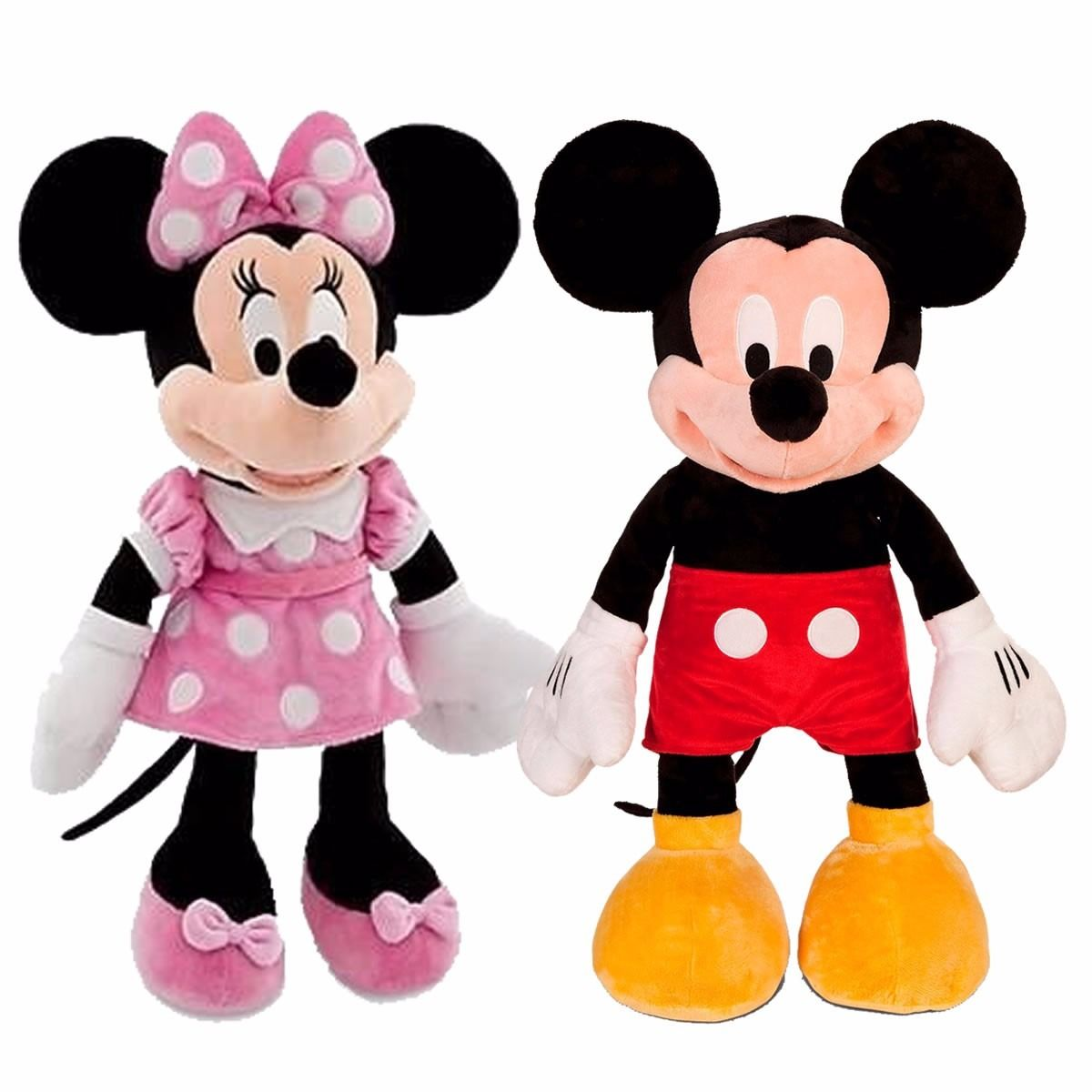 disney peluche mickey o minnie mouse grande 65 cm original. Black Bedroom Furniture Sets. Home Design Ideas
