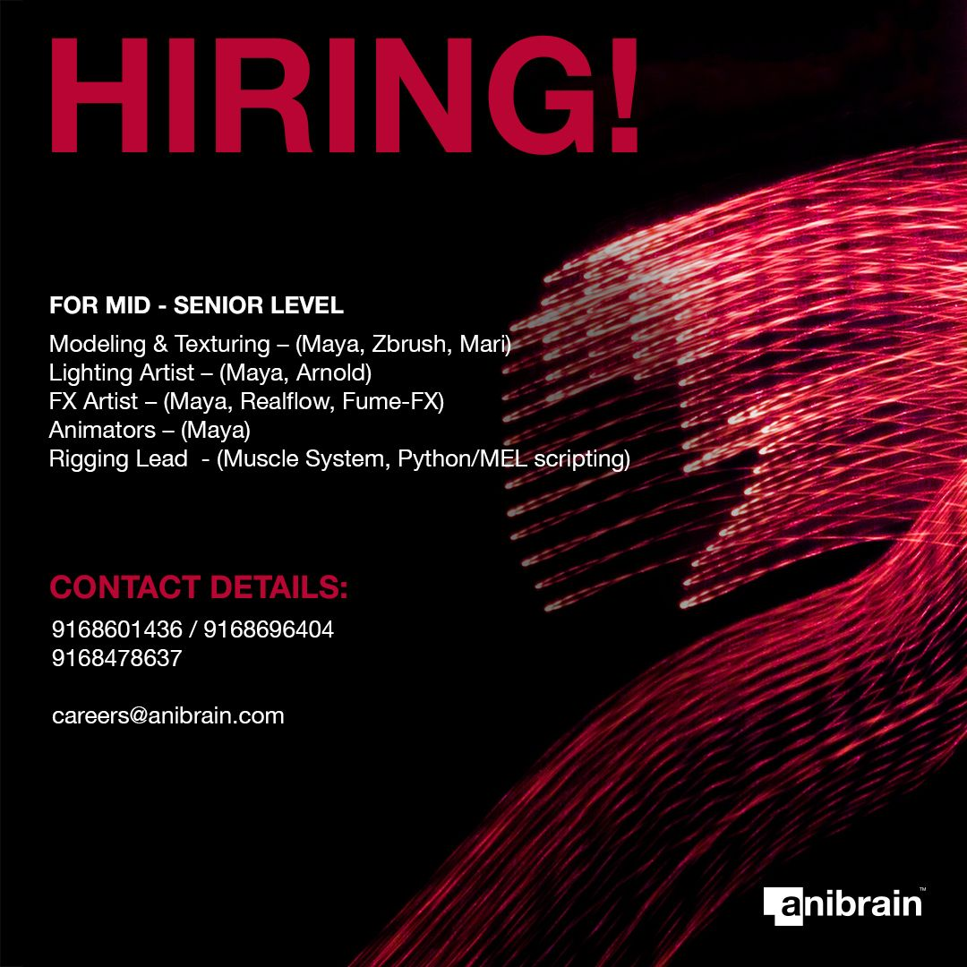 Vfx And Animation Jobs At Anibrain Vfx Pune India Job Opening Learning And Development Muscle System