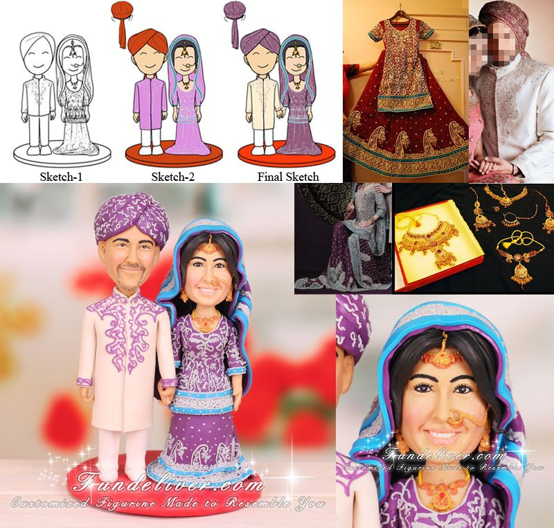 Pakistani Wedding Ideas: Pakistani Wedding Cake Toppers And Decorations