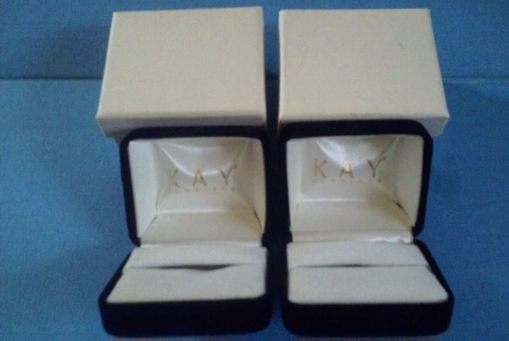 Lot Of Two Kay Jewelers Empty Black Velvet Ring Box Kayjewelers
