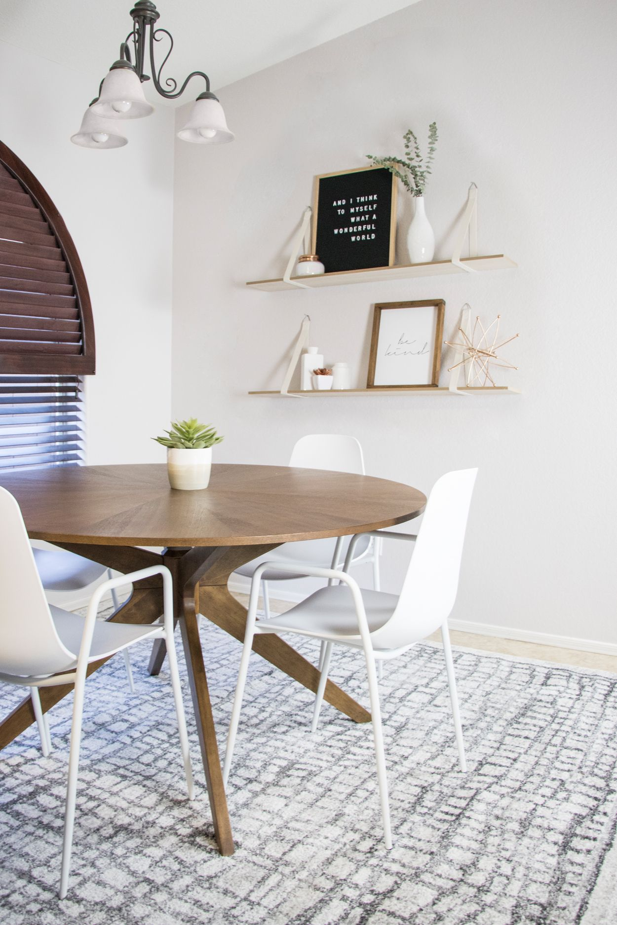 Luxurious and versatile make up the characteristics of the conan dining table a stunning sunburst wood veneer top adds glamour while its dynamic centered