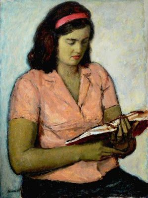 Donchev, Dionisii (1935-...) Reading woman