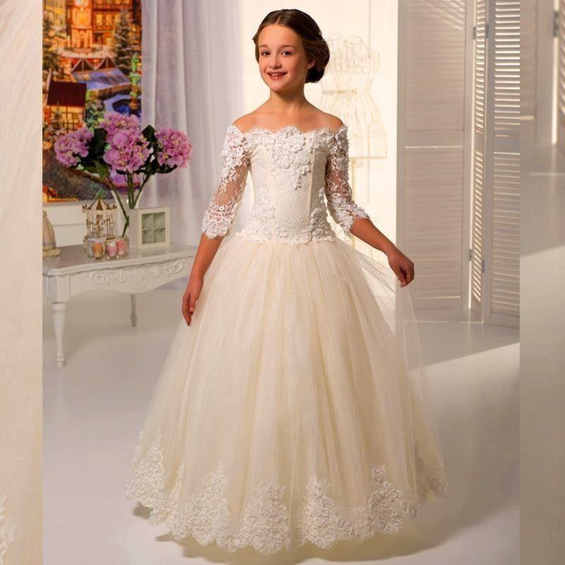 Lace communion dresses for girls