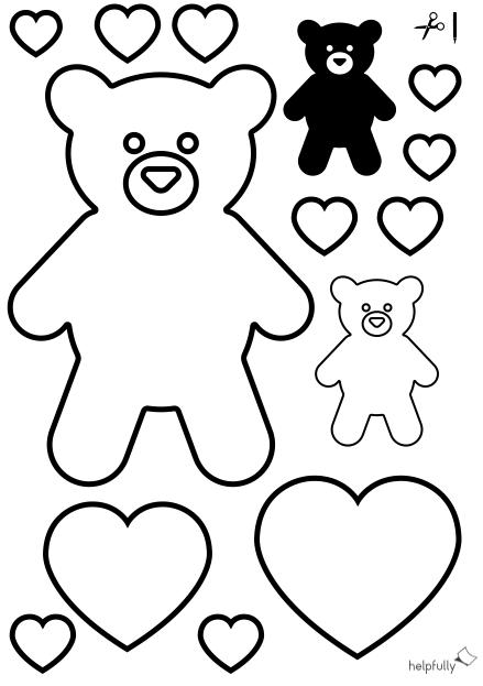 Ausmalbild Teddybar Herzen Zum Ausschneiden In 2020 Ausmalen Ausmalbild Ausdrucken