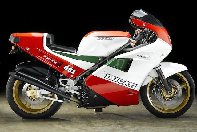 "one of 207 homologation ""kit bikes"",1988 ducati 851 tricolore"