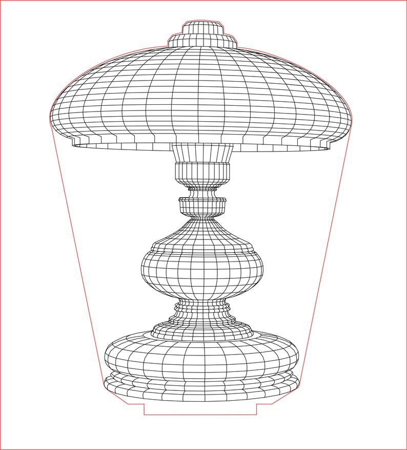Table Lamp Shade 1 3d Illusion Acrylic Led Lamp Vector Dxf Etsy In 2020 Table Lamp Shades Lamp Shade Lamp