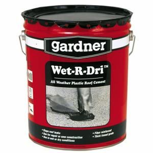 4 75 Gal Wet R Dri Roof Cement Black 0375 Ga At The Home Depot Roof Patch Roof Cement Home Depot
