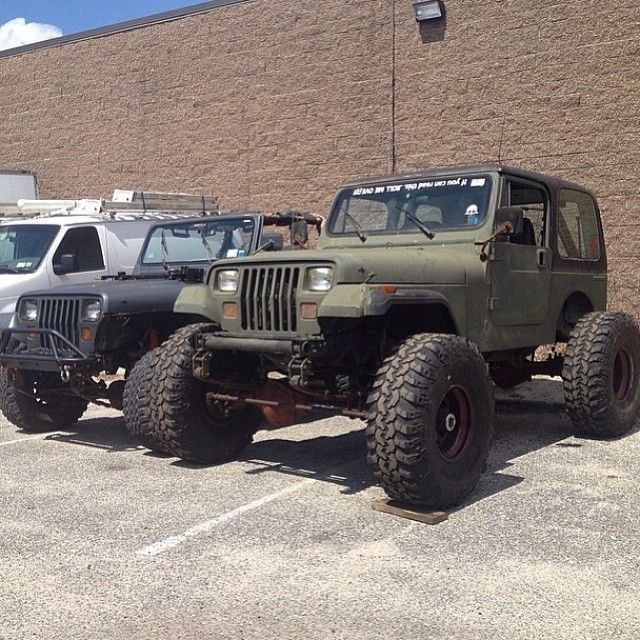 Because Yj S These Are Eddie Barbara Jeeps The Small One Has A