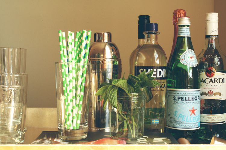 how to set up a bar cart at home