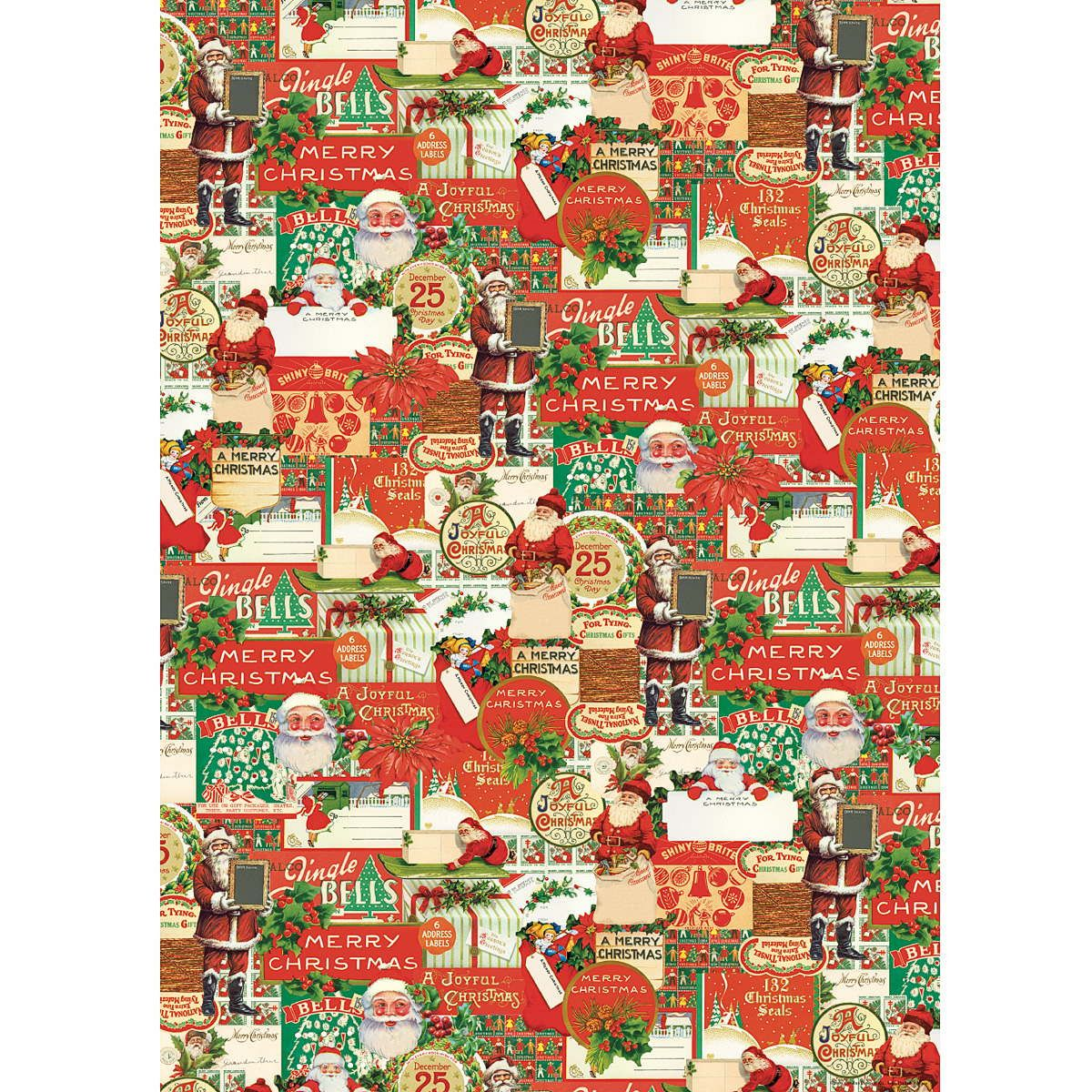 This Vintage Santa Claus Gift Wrap from Cavallini is