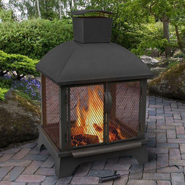 Landmann Usa 25722 Redford Outdoor Fireplace Wood Burning Fire
