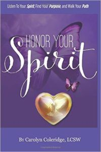 Honor Your Spirit inspires you to listen to your own spirit and learn self healing techniques. Through signs, synchronicity and messages, it encourages you to follow your own spiritual path. You will learn how to initiate and sustain dialogue with the Universe as well as how to create miracles in sync with the flow of life.