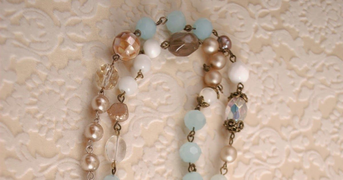The Josephine assemblage necklace was a fun piece to work on.   Some of my favorite materials were used- amazonite, freshwater pearls and...