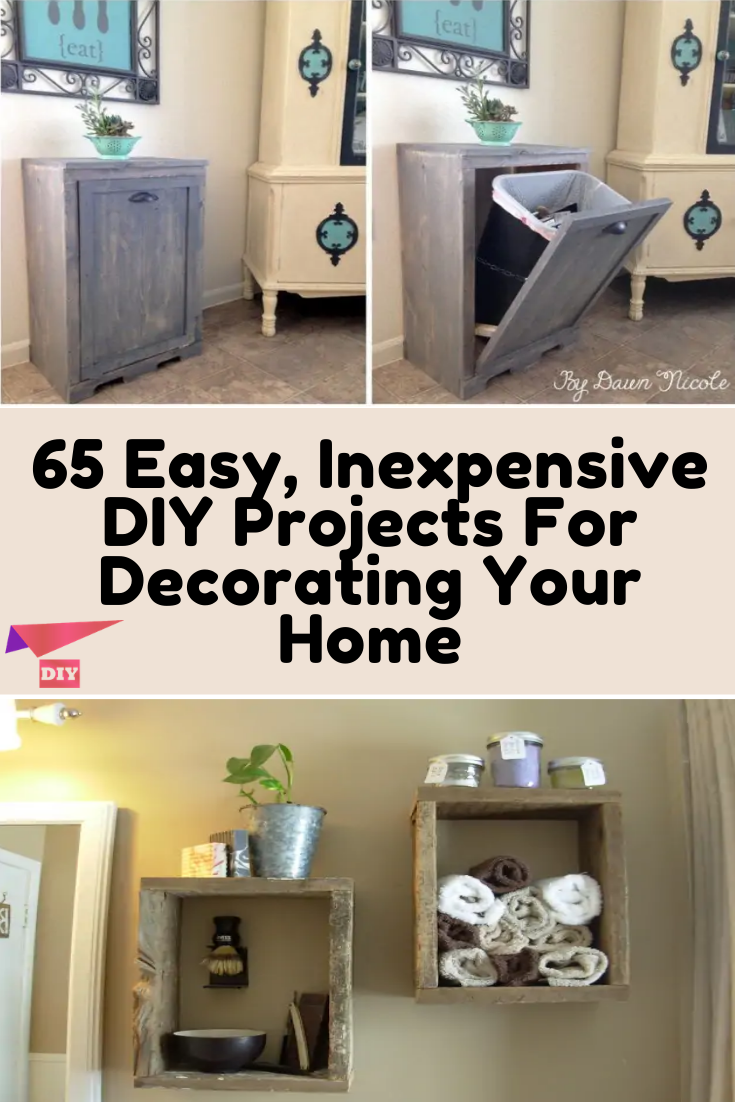 65 Easy, Inexpensive DIY Projects For Decorating Your Home -   17 diy projects for the home ideas