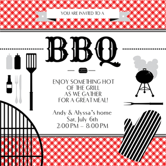 Bbq Essentials Printable Invitation Template Customize Add Text