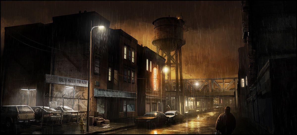 Concept art for Heavy Rain video game by François Baranger