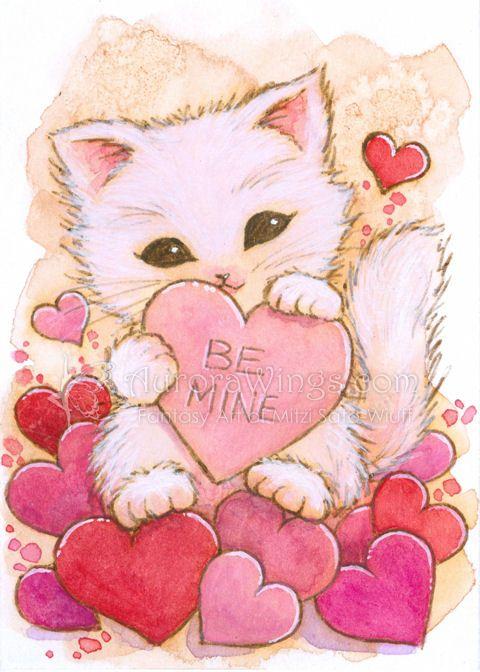 Valentine Kitty By Aruarian Dancer Deviantart Com On Deviantart