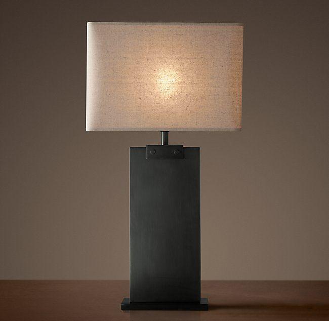 Lovely Rectangular Column Table Lamp