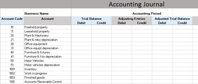 Free Accounting Templates In Excel  Sarmand