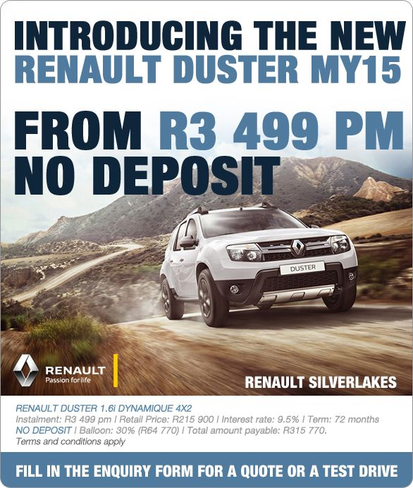 Buy The New Renault Duster 1.6i Dynamique 4X2 From R3