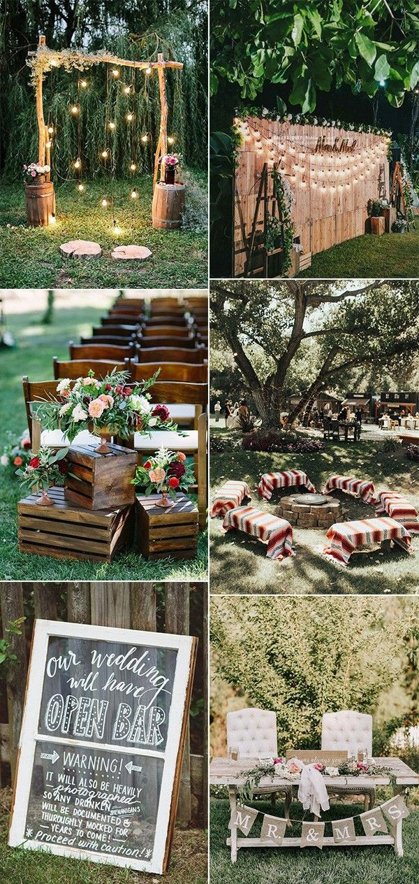 15 Creative Backyard Wedding Ideas On A Budget Bruiloftsideeen