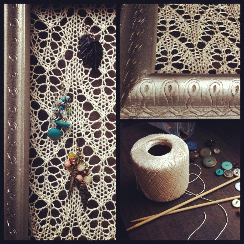 Custom Knit Earring Holder, christinly.com