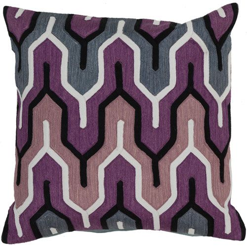 Grape Slate Blue And Flint Gray Down Filled 40 X 40 Pillow In Mesmerizing Fairon Decorative Throw Pillow