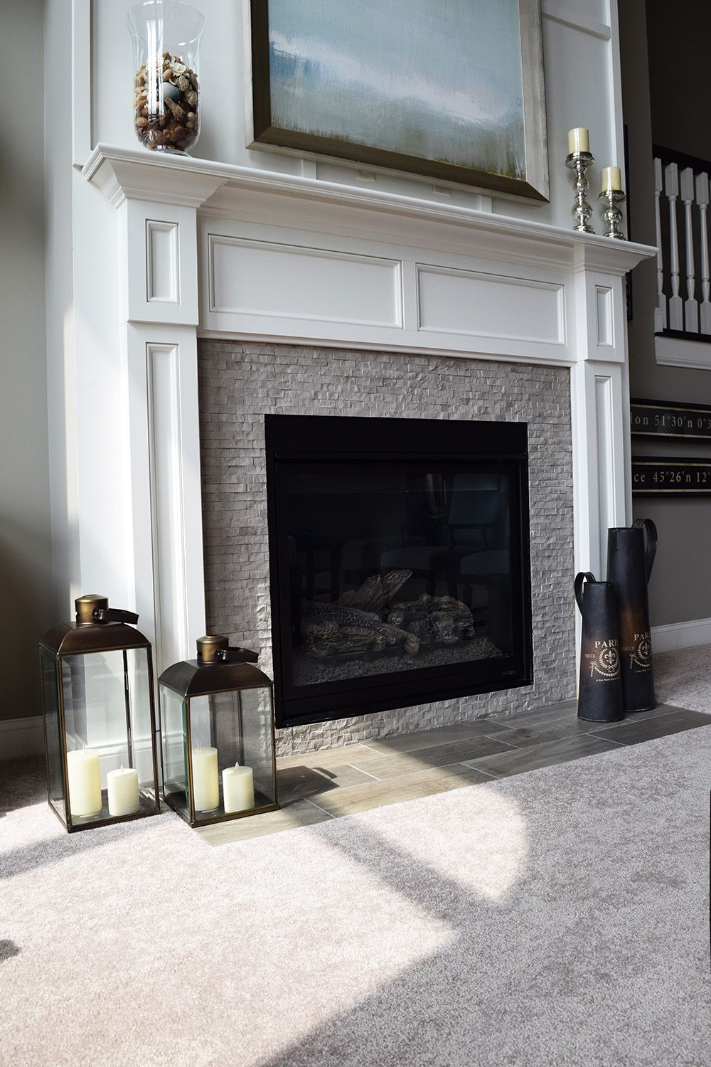 Update Your Fireplace With A New Gorgeous Neutral Color Wood Look