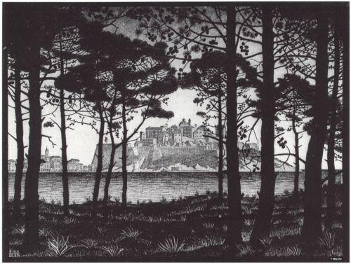 Maurits Cornelis Escher(Dutch,1898-1972) Pineta of Calvi...