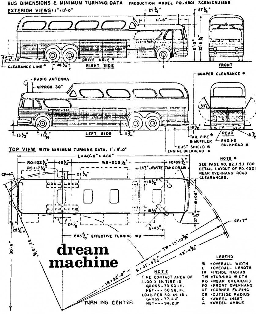 Outside Dimensions Bus Greyhound Bus Greyhound