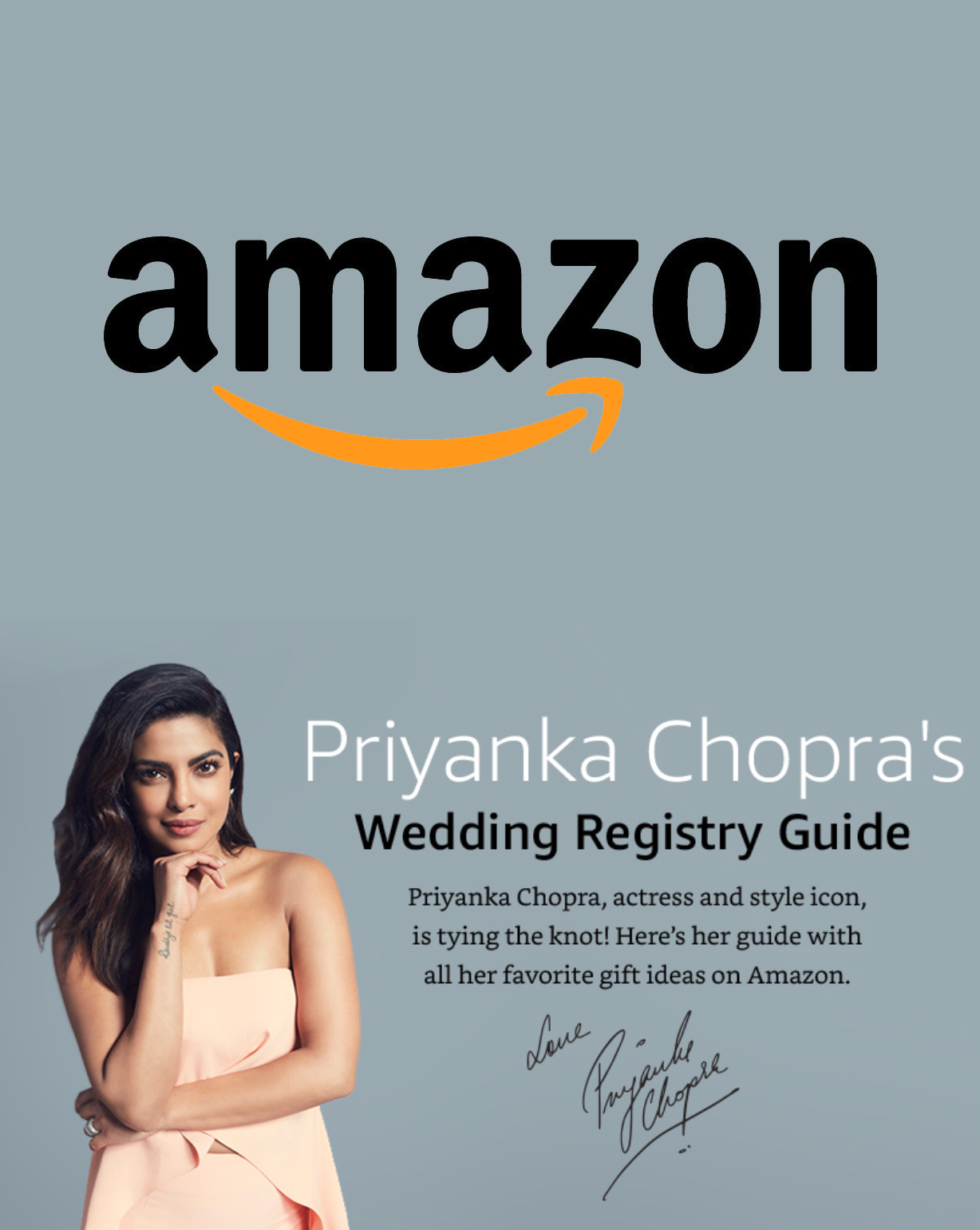 Priyanka Chopra S Wedding Registry On Amazon Wedding Registry Guide Priyanka Chopra Wedding Wedding Registry