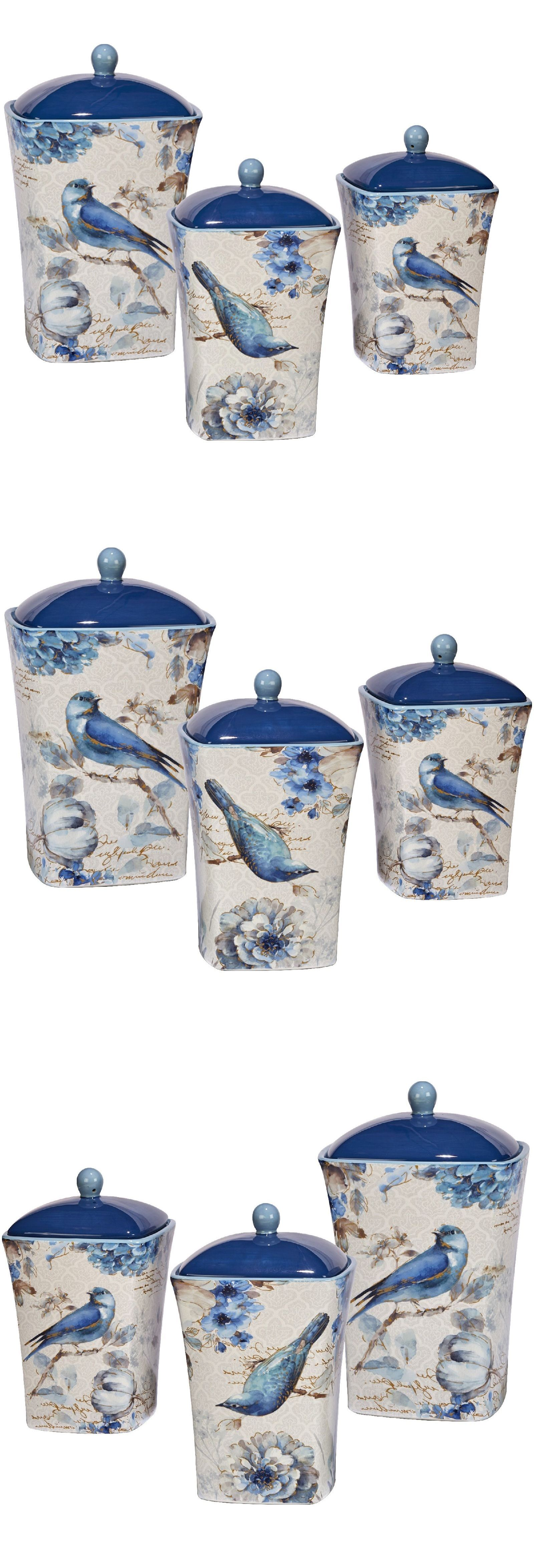 canisters and jars 20654 kitchen canister jar set bluebird and