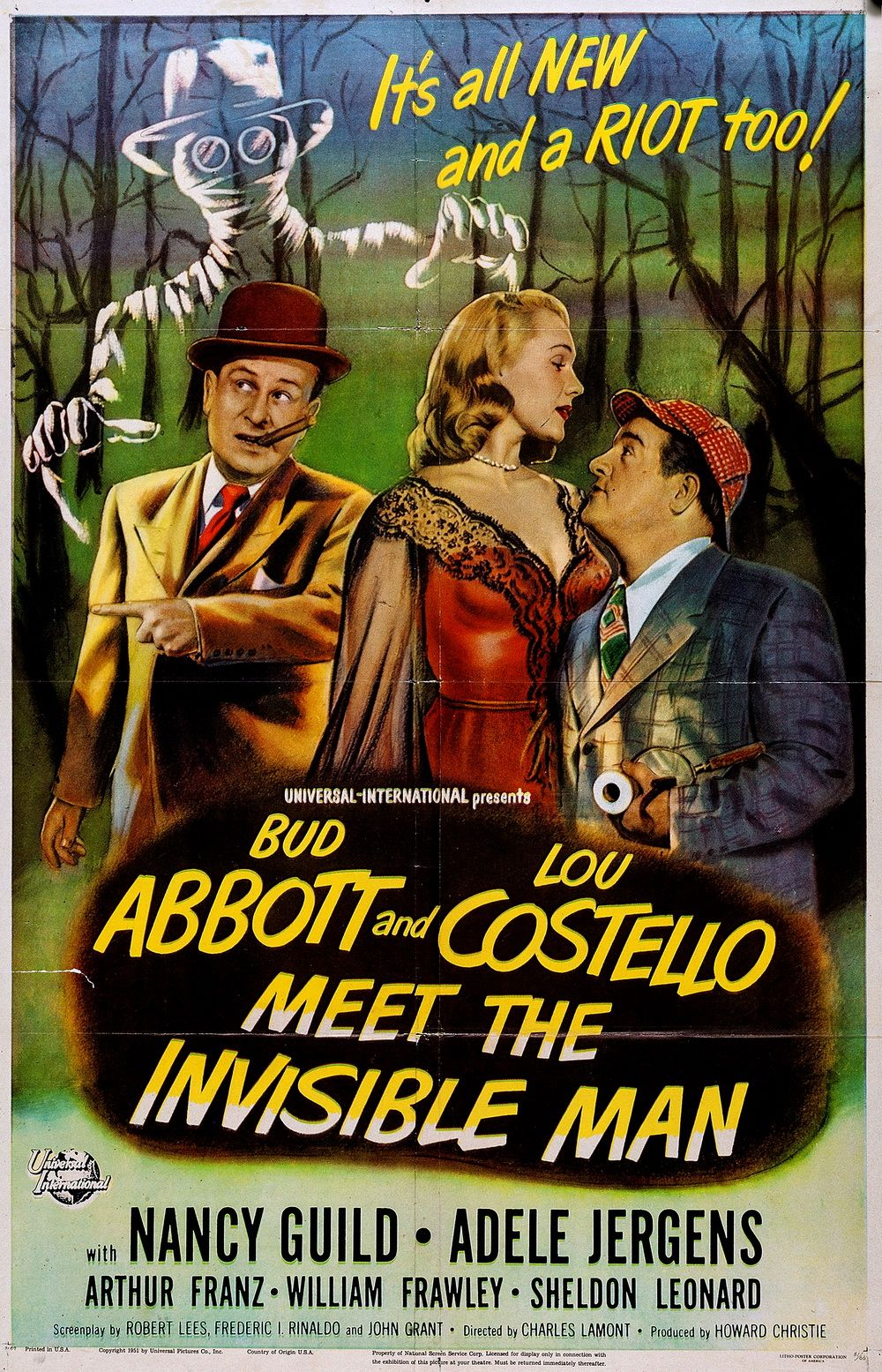 Abbott And Costello Meet The Invisible Man 1951 With Images