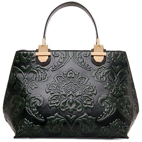 Black Damask Handbag