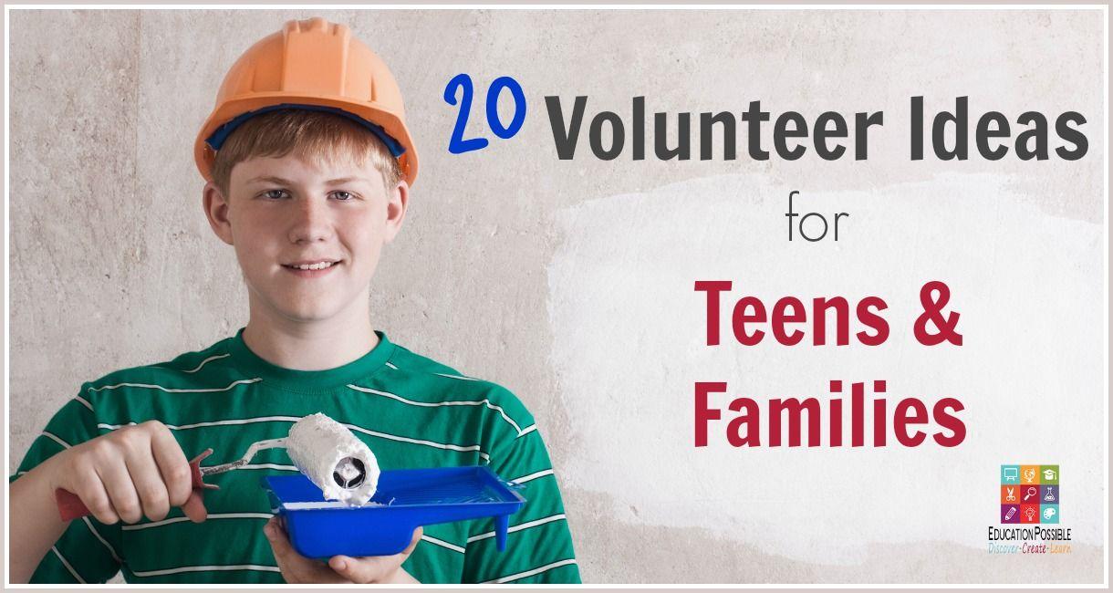 20 volunteer ideas for teens & families   career options, life