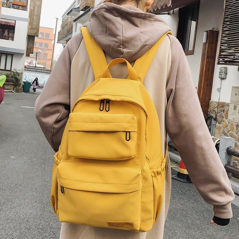 Photo of Neuer wasserdichter Nylon-Rucksack für Frauen Multi Pocket Travel Rucksäcke Weibliche Schultasche