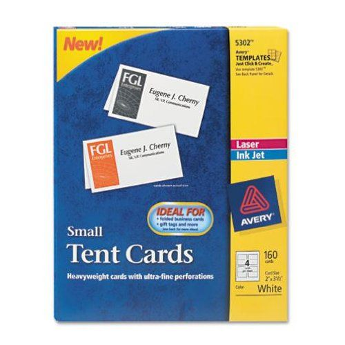 Amazon Com Avery Small Tent Cards 2 X 3 5 Inches White Box Of 160 5302 Blank Tent Cards Office Products Tent Cards Small Tent Place Card Template