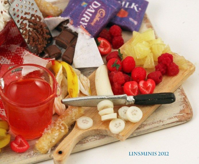 lins mini artform- her prep tray for a fresh fruit trifle... love it!
