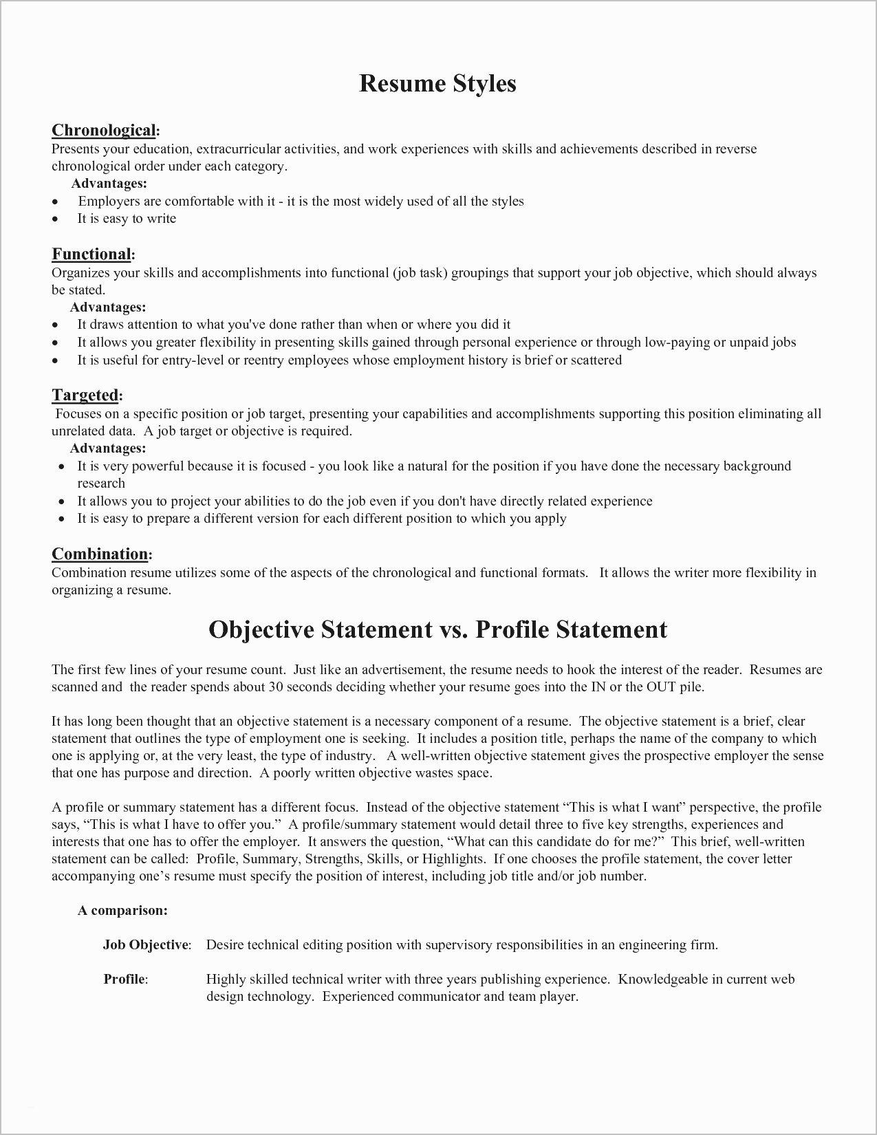 Sample Resume Objective Statements General Good