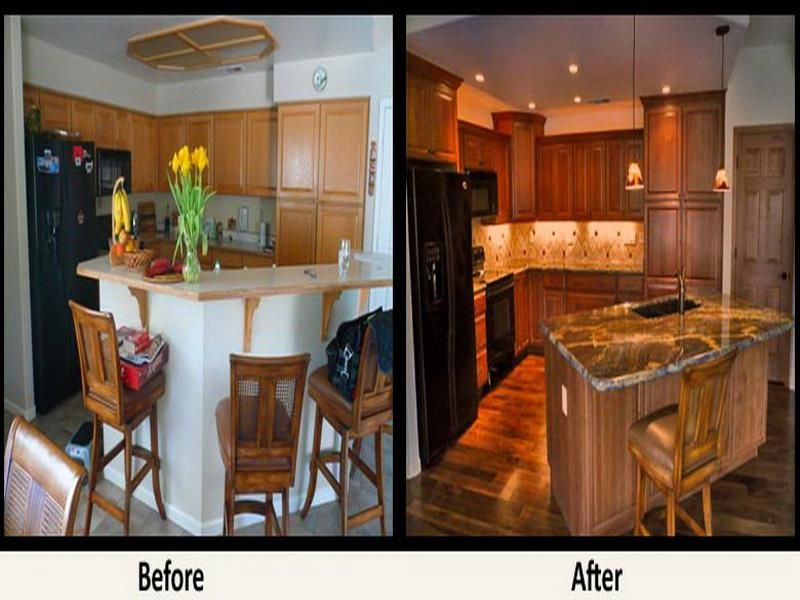 Remodel Kitchen Before And After Awesome Remodeled Kitchens Before And After  Kitchen Remodel  Before And Decorating Inspiration