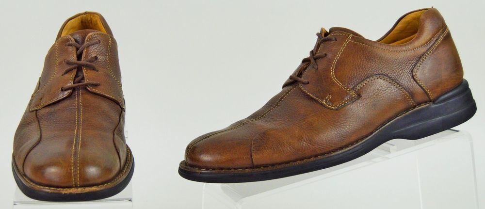 Johnston & Murphy Mens 8.5 Medium Brown Leather Oxfords Used #JohnstonMurphy #Oxfords